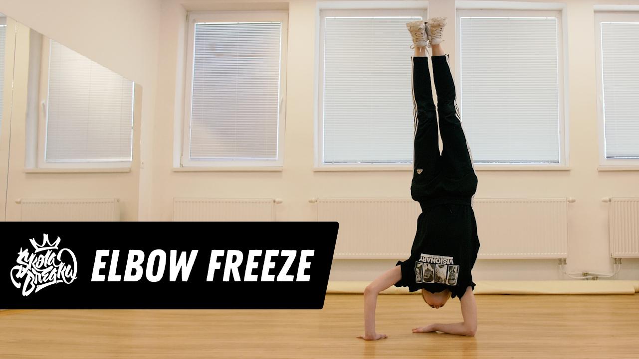 Ako sa naučiť Elbow freeze (stojka na lakti) Škola Breaku tutoriál