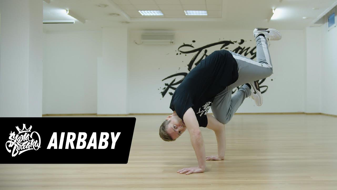 Ako sa naučiť Air Baby freeze   Škola Breaku tutoriál